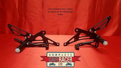 (B) Cafe Racer Rear Sets In  Black Alloy -New - Free P/p