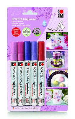 "Porzellanmarker ""Fantasy Style"" Porcelain Painter 5er Set Porzellanstift Pen"