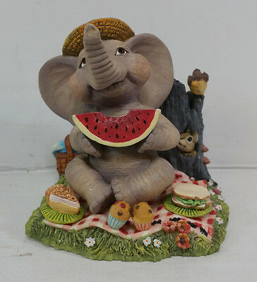 "1996 Peanut Pals ""A Slice of Fun"" The Hamilton Collection Elephant Figurine"