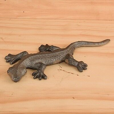 "Cast Iron ~ GECKO ~ Vintage Collectable Shelf Decor { 9 1/2"" Long } ~ by PLD"