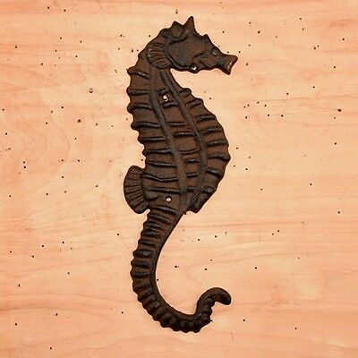 """Cast Iron ~ SEAHORSE ~ Vintage Collectable Wall Decor {  11"""" x 5""""  } ~ by PLD"""