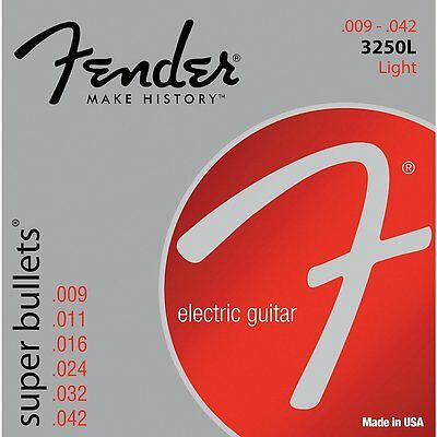 Fender 3250L Nickel-Plated Steel Bullet-End Light Electric Guitar Strings (9-42)