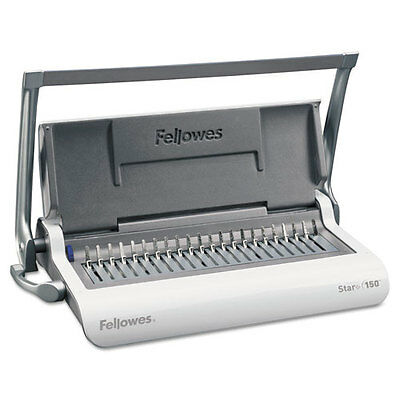Fellowes Star 150 Manual Comb Binding Machine, 150 Sheet Binding Capacity