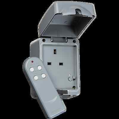 Ip66 13A 1G Remote Outdoor Socket