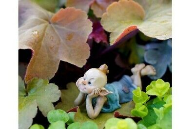 Miniature Dollhouse FAIRY GARDEN - Pixie In Thought - Accessories