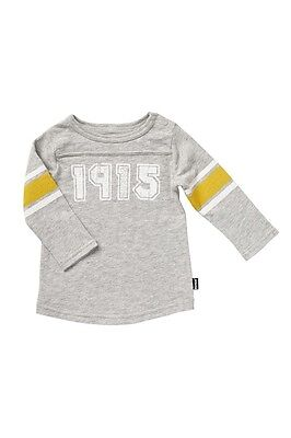 BONDS Baby 1915 Long Sleeve Top sizes  0 Colour Grey