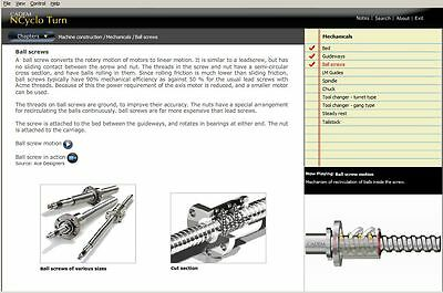 NCyclo Turn - Multimedia CNC teaching software