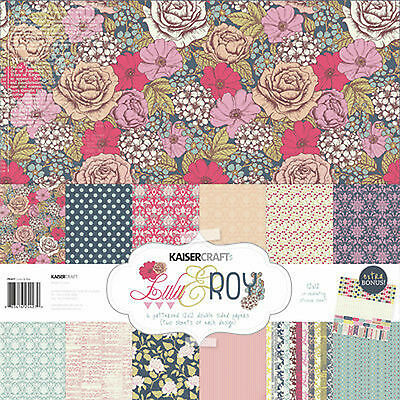 "Lulu & Roy PK427 Kaisercraft 12""x12"" Paper Collection & Bonus Sticker Sheet"