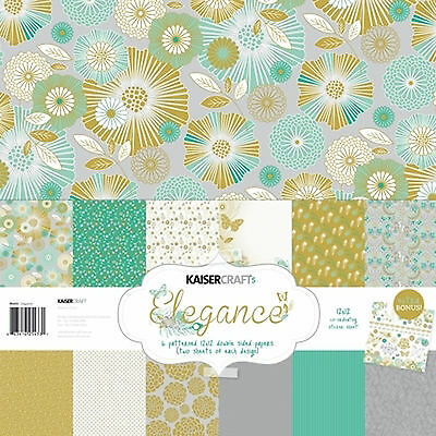 "Elegance PK433 Kaisercraft 12""x12"" Paper Collection & Bonus Sticker Sheet"