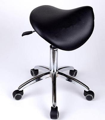 Medical Dental Dentist's Mobile Chair Doctor's Stools Saddle Style PU Leather