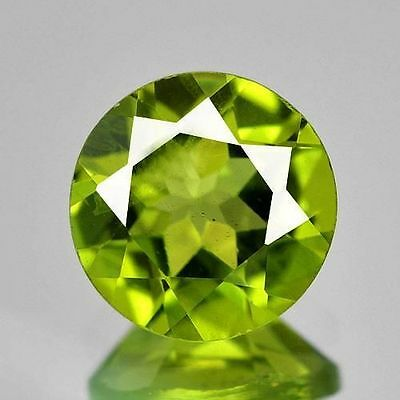 1.74 CT PERIDOT rond   VS 7.8x 4.2 mm  pierres précieuses fines gems 14875