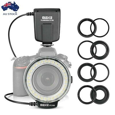Meike FC-100 Macro Ring Speedlite Flash Light for Canon Nikon Olympus Panasonic