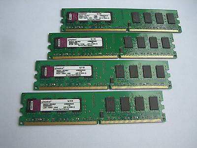 Kingston 8GB RAM DDR2 (4 x 2GB Module ) KVR800D2N6/2G  PC2-6400 800Mhz CL6 +++ #