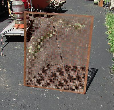 Large Art Deco Cast Iron Architectural Panel Strong Geometric Design
