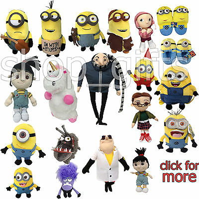 Despicable Me 3 Character Minion Plush Soft Toy Stuffed Animal Doll Teddy NWT