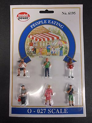 Model Power O Scale People Eating Pack (6 Figures) - MP6195