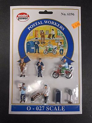 Model Power O Scale Postal Workers Pack (5 Figures, 2 Mailboxes) - MP6196