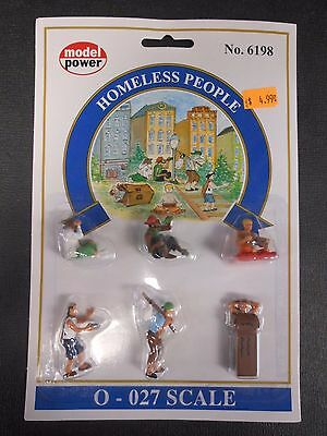 Model Power O Scale Homeless People Pack (6 Figures) - MP6198