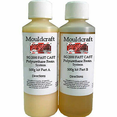 Mouldcraft SG2000 1KG Fast Cast Polyurethane Liquid Plastic Casting Resin kit