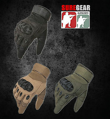 Military Combat Full Finger Gloves Carbon Fibre Hunting Airsoft Paintball Army