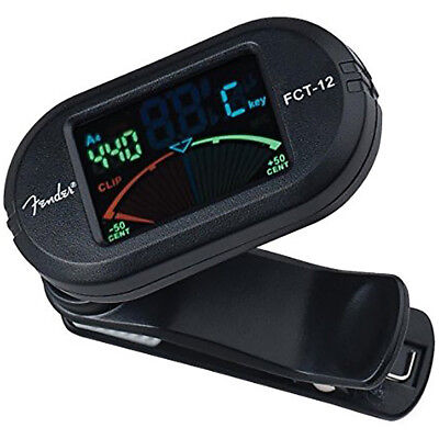Fender FCT-12 Clip-on Chromatic Guitar Ukulele Wind Brass Instrument Tuner FCT12