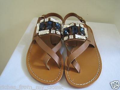 7f7f875d2 New w o Box MARNI Crystal-Embellished Jeweled Leather Sandals Shoes 39 9