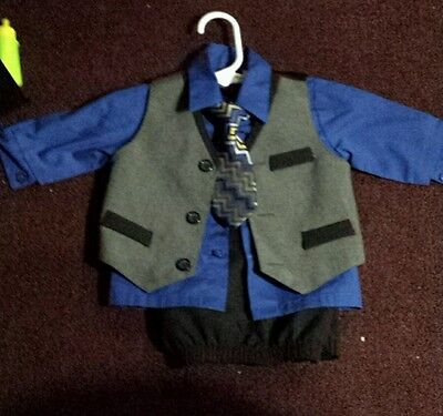 6/9 months 4 piece suit set
