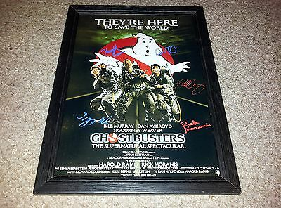 """Ghostbusters Pp Signed & Framed 12""""x8"""" A4 Photo Poster Bill Murray Dan Aykroyd"""