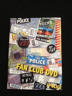 The Police Fan Club Only DVD Set New Never Played from FanClub Rare Discontinued