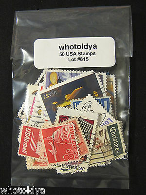 NICE COLLECTION USA Postage Stamps Mix Off Paper whotoldya Lot 815