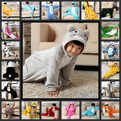 Popular Boy Girls Kids Cosplay Costume Animal Onesie Kigurumi Pajamas Sleepwear