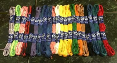 6 Anchor Cross stitch pure Cotton sewing thread floss skeins Silver color - 8m