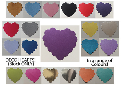 DECO HEART EMBELLISHMENTS (BLOCK) - Paper Punches MULTI LISTING! 30 Pieces