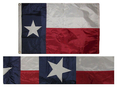 3x5 Embroidered State of Texas 210D Nylon Flag 3'x5' Made in USA