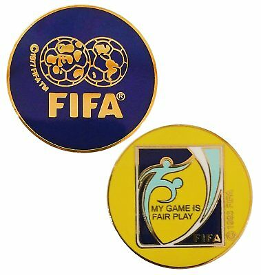 FIFA Soccer (Football) Referee Toss Coin with Plastic Sleeve Slightly Imperfect