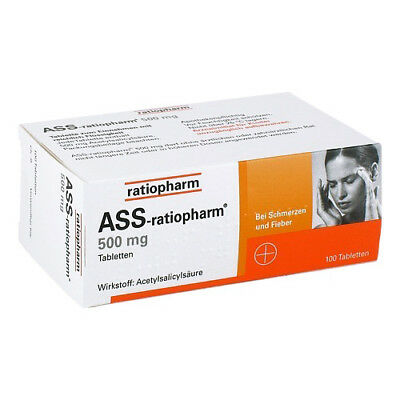 ASS RATIOPHARM 500 mg Tabl. 100St PZN 03416422