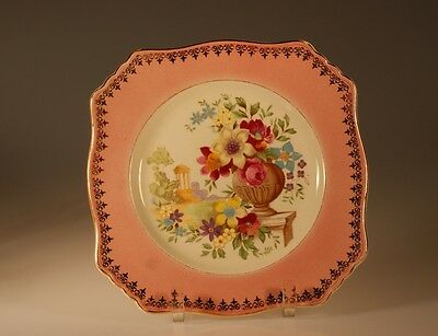 British Royal Winton Square Pink Dinner Plate