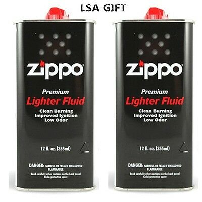 Zippo 12 fl.oz (355ml) Fluid Fuel Value Pack 2 X CAN Combo Set NEW
