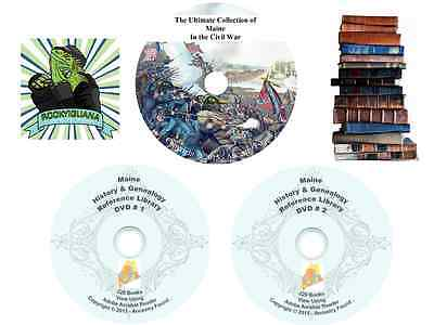 MAINE  - 268 books - History & Genealogy - Civil War - Ultimate Library CD DVD