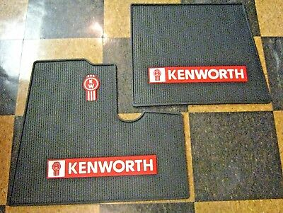 New  Pair Of Kenworth Logo Black Floormats - Drivers Side & Passengers Side