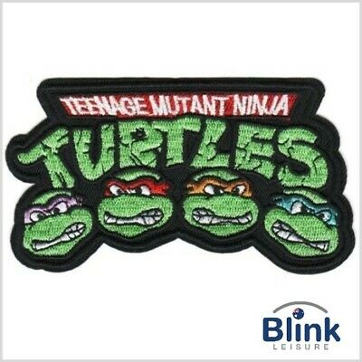 Teenage Mutant Ninja Turtles Embroidered Iron-On or Sew On Patches 11cm x 9.5 cm