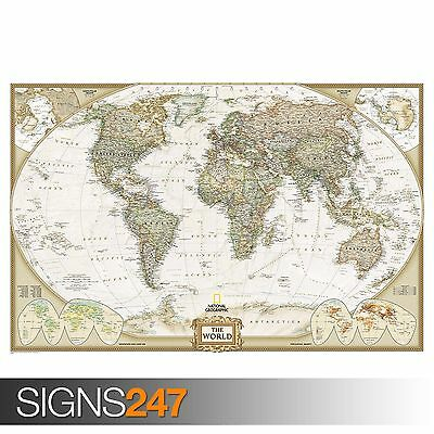 WORLD MAP GIANT (1011)  Photo Picture Poster Print Art A0 A1 A2 A3 A4