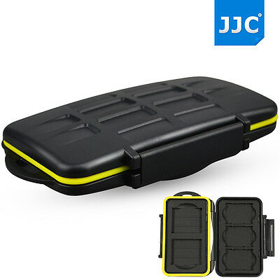JJC Water-resist Tough Storage Memory Card Case Protector For 3 XQD + 2 CF Cards