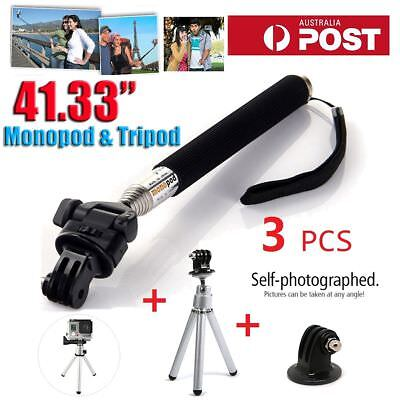 Go Pro Hand Grip Selfie Stick Monopod Pole + Mini Tripod For GoPro Hero 2 3+ 4 5