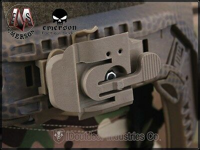 EMERSON Tactical FAST Helmet Accessories HL1-A Helmet Light Mount DE EM8850A
