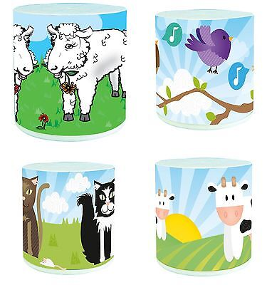 Animal Voice Box Fun Animal Noise Toy - TURN OVER TO HEAR Cat Bird Cow or Sheep