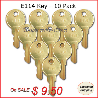 "ASI - ""E114"" Key for Paper Towel, Toilet Tissue & Soap Dispensers - (10/pk.)"