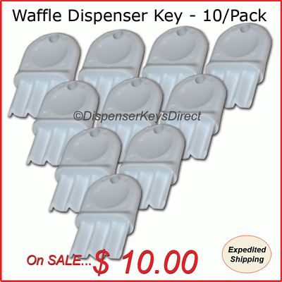 "Universal ""Waffle Key"" for Paper Towel & Toilet Tissue Dispensers - 10/pk."