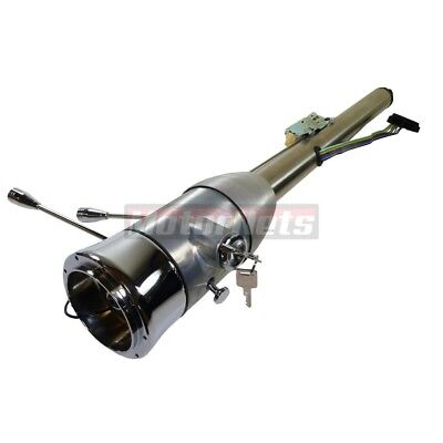 "Universal Raw 30"" Manual Floor Shift Steering Column Hot Rat Rod W/ Ignition Key"