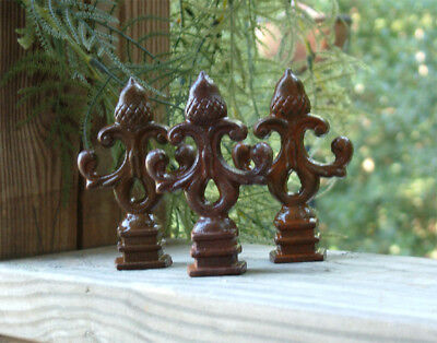 HUGE Cast Iron FLEUR DE LIS Finial Garden Statue Home Decor Rustic